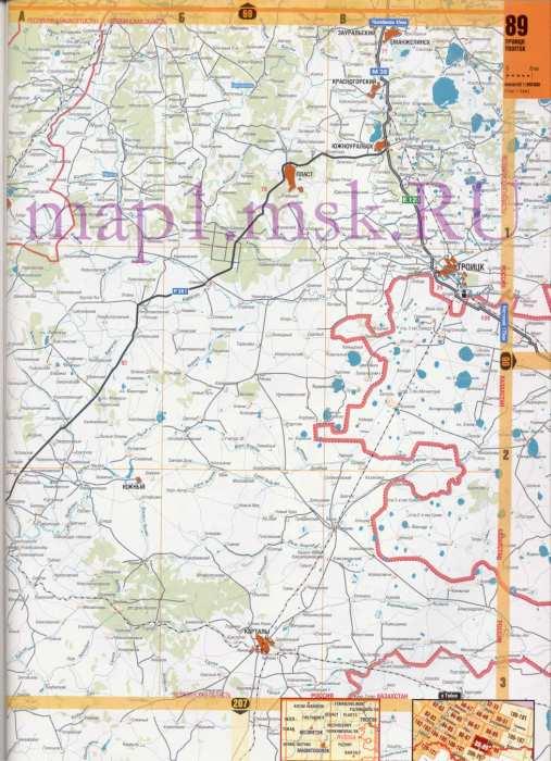 Карта юга Челябинской области. Подробная карта дорог ...: http://obl-map.ru/525366.html