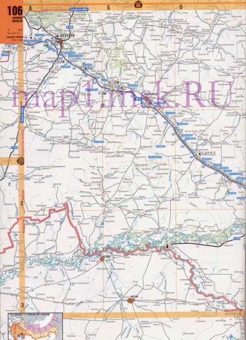Карта Оренбургской области.