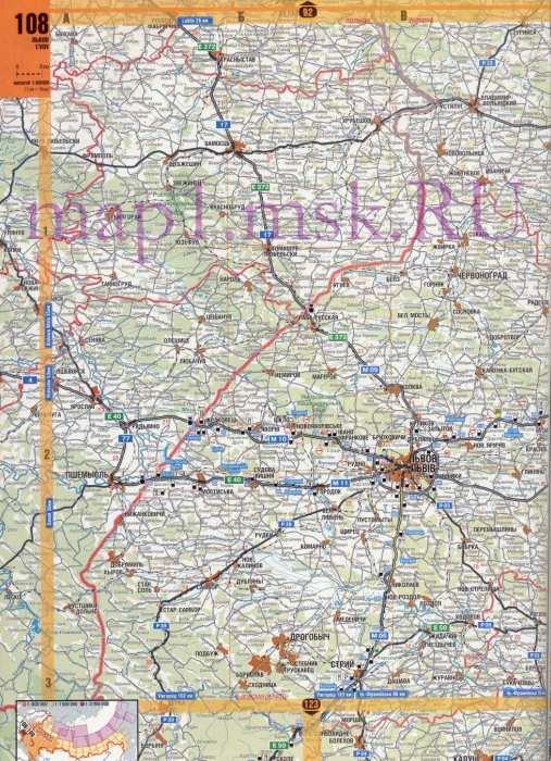 Карта Западной Украины. Карта