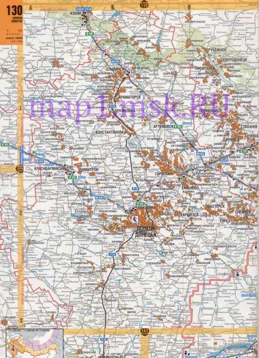 Карта донецкой области подробная