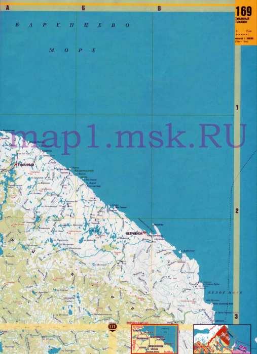 Карта автодорог Мурманской