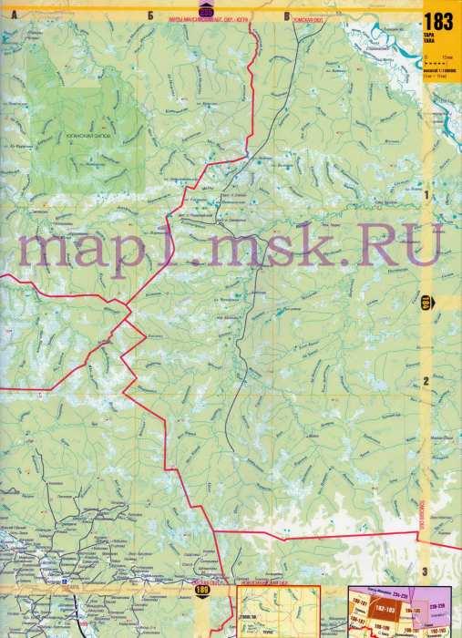 Карта Омской области.