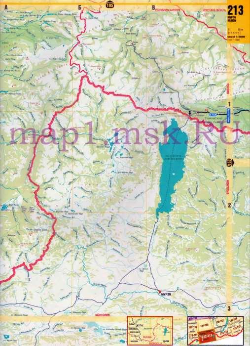Карта Тывы. Карта дорог Тывы.