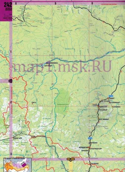 Карта Якутии. Подробная карта
