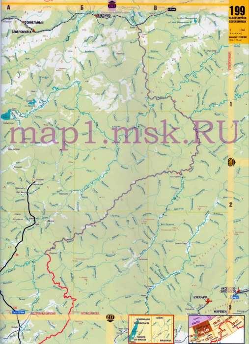 Карта автодорог Сибири - север
