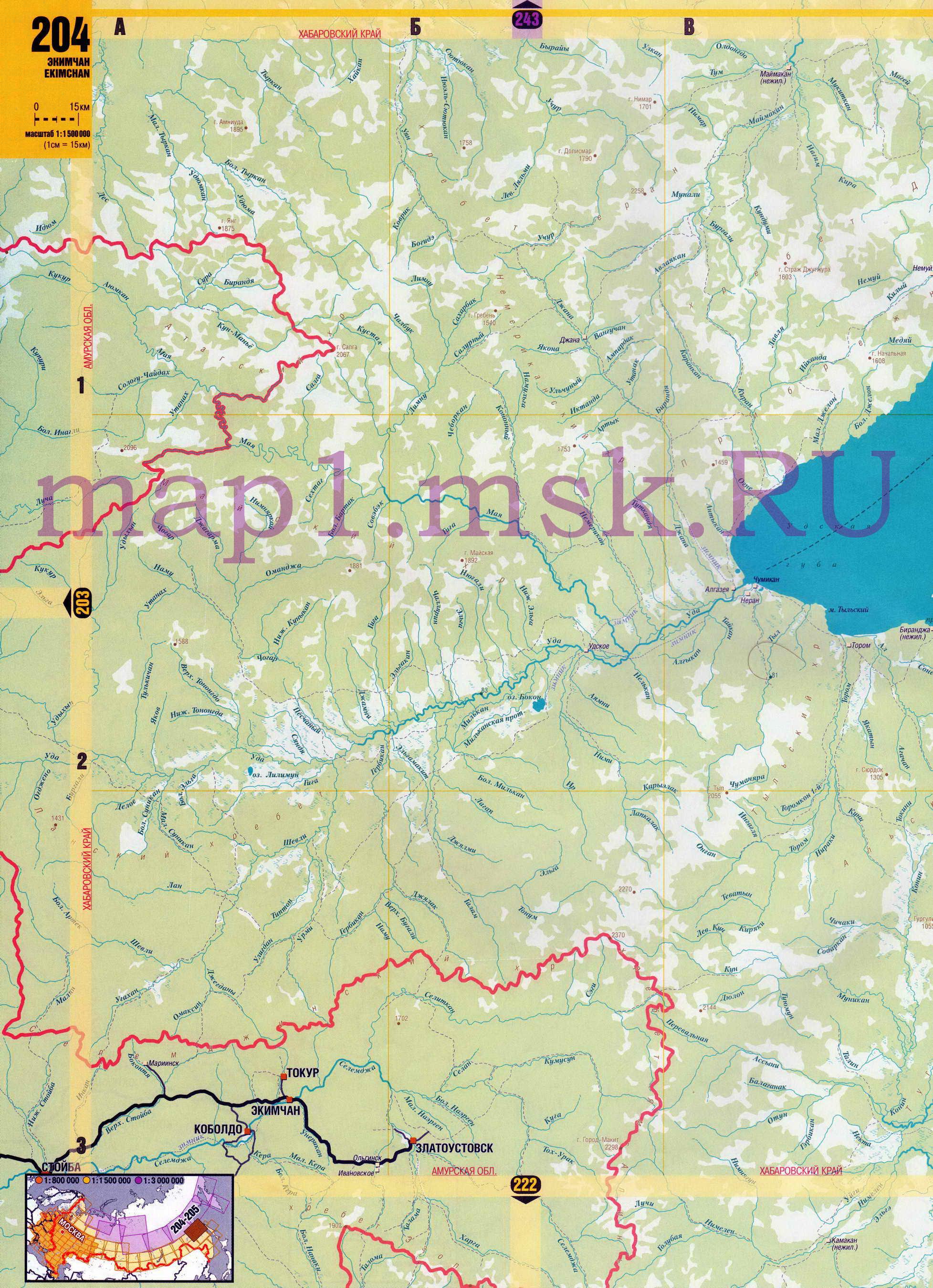 Карта Хабаровского края. Подробная карта севера ...: http://obl-map.ru/map525996_0_0.htm