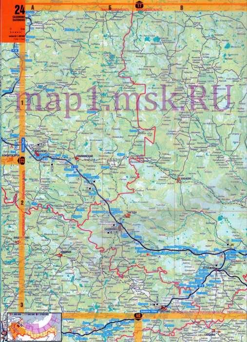 Карта Вологодской области.