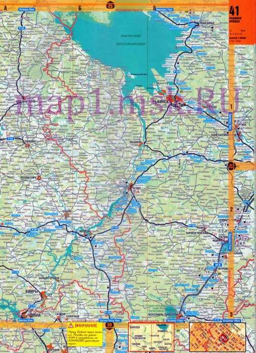 тверской схема области карта