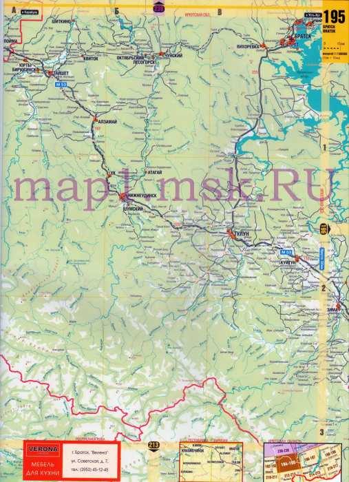 Карта Красноярского края.