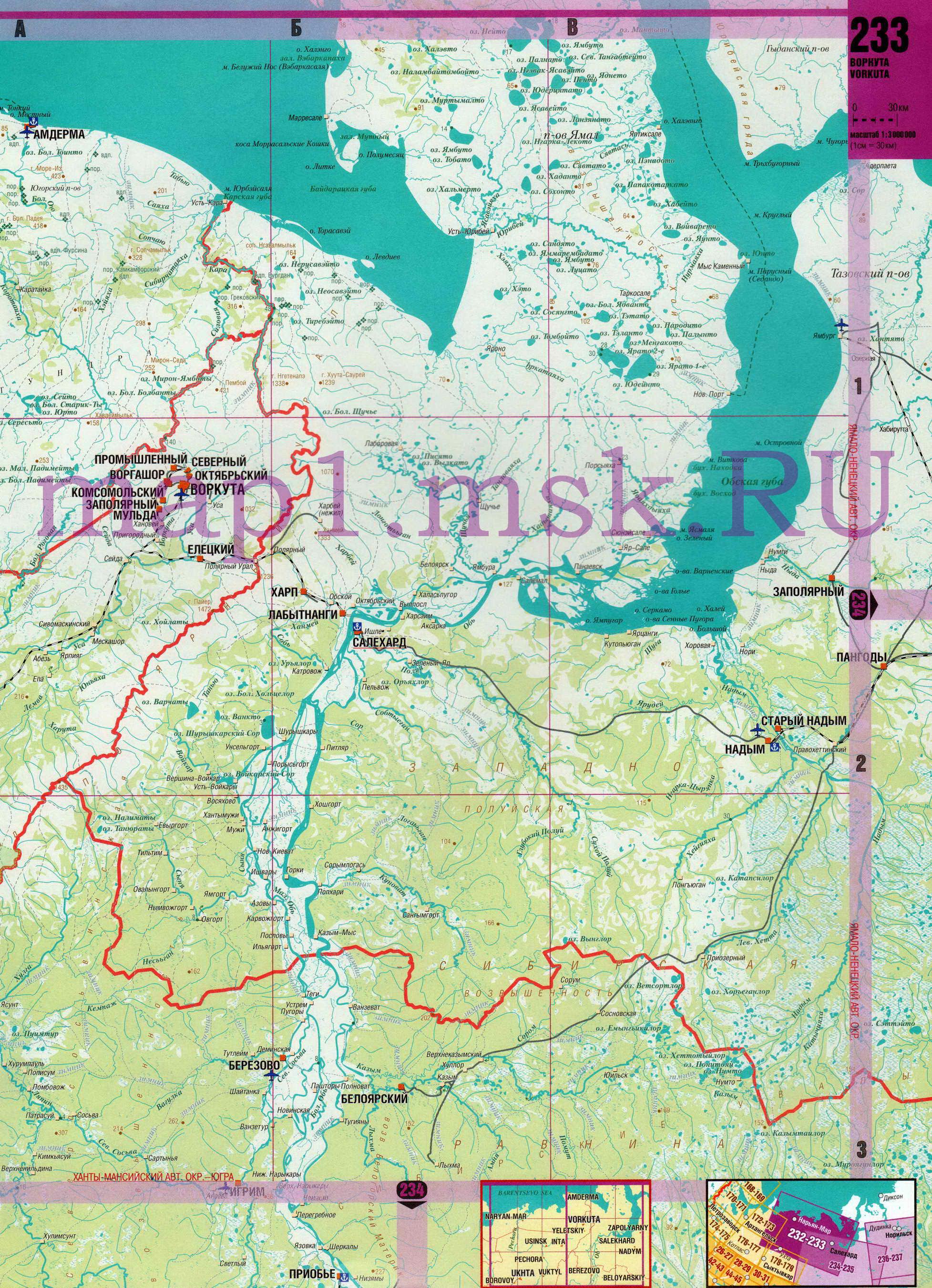 Карта Ямало-Ненецкого автономного округа ЯНАО. Подробная ...: http://obl-map.ru/map641178_0_0.htm