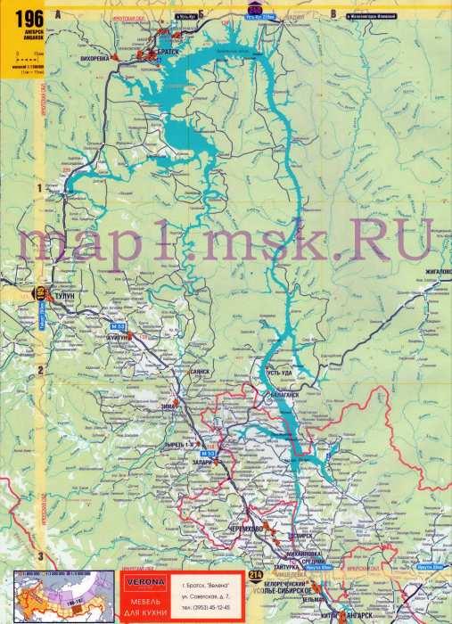 Карта Иркутской области и