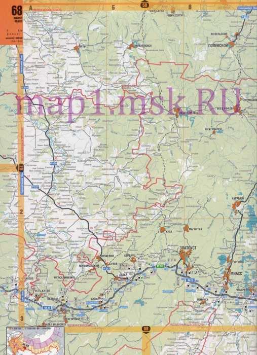 Карта севера Челябинской